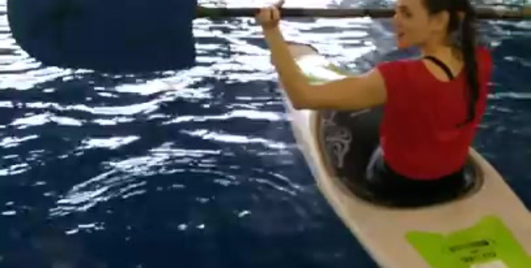 Пробуем эскимос на воде